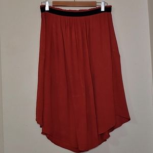 H&M High Low Skirt Burnt Sienna Size 14